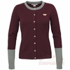 Womens Virginia Tech Colorblock Cardigan by Cutter & Buck