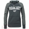 Womens Virginia Tech Hokies Platinum Therma-FIT Hoodie by Nike