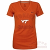 Womens Virginia Tech Nike Legend V-Neck