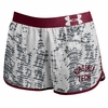 Womens Virginia Tech Performance Run Shorts by Under Armour
