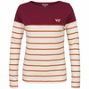 Womens Virginia Tech Plus Sized Striped Top