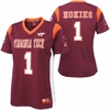 Womens Virginia Tech Spike It! Football Jersey