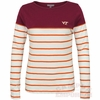 Womens Virginia Tech Striped Boatneck Top