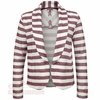 Womens Virginia Tech Striped Fleece Blazer