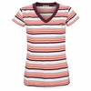 Womens Virginia Tech Striped Tailgate Tee