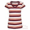 Womens Virginia Tech Striped V-Neck Top by University Girl