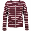 Womens Virginia Tech Striped Zip-up Sweater