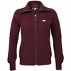 Womens Virginia Tech Vancouver Full Zip Sweater by Cutter and Buck