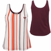 Womens Virginia Tech Vertical Stripe Tank Top
