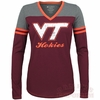 Womens Virginia Tech Zeta Football Long Sleeved Tee