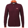 Womens Virginia Tech Zip Cable Cardigan