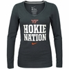 Womens VT Hokie Nation Long Sleeved V-Neck by Nike
