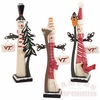 Virginia Tech Wooden Snowmen Figurines