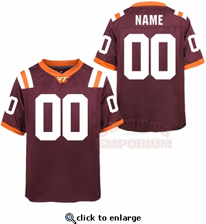 Youth Custom Virginia Tech Jersey: Two Digits