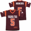 Youth Maroon Virginia Tech #5 Blitz Jersey