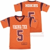 Youth Orange Virginia Tech #5 Blitz Jersey