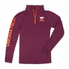 Youth Virginia Tech 1/4 Zip Performance Long Sleeve Shirt