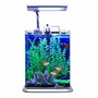 Aquarium Fish Tank Nano AT20 w/ LED Light - 2 Gallon Silver
