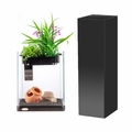 Nanoponic 3 Gallon Aquarium and Stand Combo Black