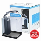 Zen Nano Glass Aquarium ZN-4G Black/White