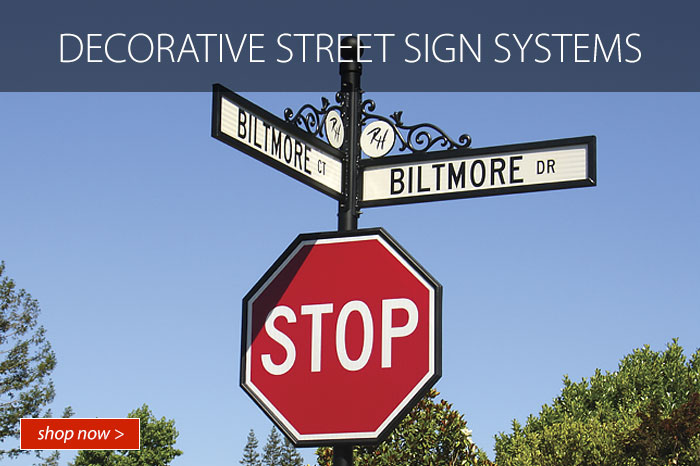 Decorative Street Sign Systems