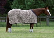 Eous Fleece Horse Cooler - brown floral or multi stripes