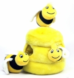 Hide A Bee Plush Dog Toy