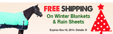 FREE SHIPPING on Winter Blankets & Rain Sheets