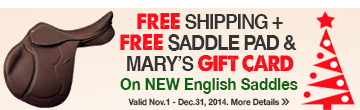 Free Shipping + Free Saddle Pad & Mary's Gift Card