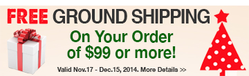 FREE SHIPPING on Your Order of $99 or more!