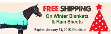 FREE SHIPPING on Horse Blankets & Rain Sheets