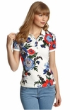 Joules Dunsden Floral Print Polo for Women