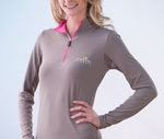 Kastel Denmark Charlotte Sun Shirt in Grey with Pink