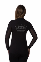 Kastel Krystal Sun Shirt with Crystal Crown & Western yoke crystals