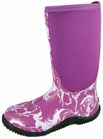 Ladies Pink Horse Muck Boots
