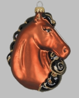 Majestic Beauty Horse Ornament - glass