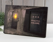 Old Barn Photo Frame with real flickering lantern!