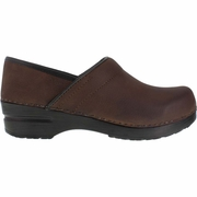 Sanita Professional Oiled Brown Clog