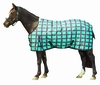Saxon 600D Plaid Turnout - Turquoise/Black