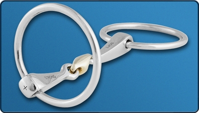 Stubben Steeltec 2-in-1 Loose Ring with Sweet Copper Link