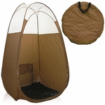 Bronze Pop up Tent With Clear Sewn in Top