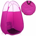 Pink Spray Tanning Tent With Clear Sewn In Top