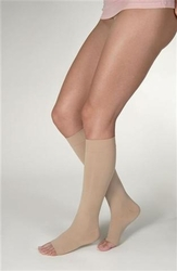 Jobst Opaque Knee High Open Toe (15-20 mmHg)