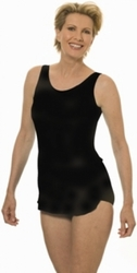 Jodee Solid Black Soft Cup Pocketed Sarong Swimsuit, (Style 1440)