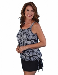 Jodee Cracked Crystal Pocketed Blouson Top, Women's (Style 2084)