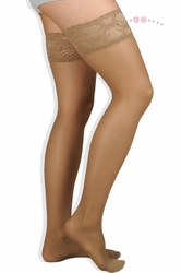 Juzo Attractive Sheer 5070AG Thigh High Support Hose with Lace Silicone Border (10-15 mmHg)