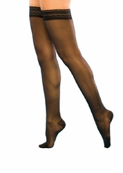 Sigvaris 120 Sheer Fashion Thigh High with Grip-Top (Closed Toe) (15-20mmHg)