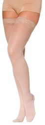Sigvaris 780 EverSheer Thigh High Stockings with Grip-Top, Closed Toe (15-20mmHg)