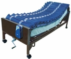 Med Air Alternating Pressure Mattress Overlay System with Low Air Loss