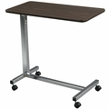 OVERBED TABLE FOR MEDICAL MATTRESS NON TILT WALNUT TOP